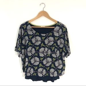Anthropologie Meadow Rue Zane Layered Blouse